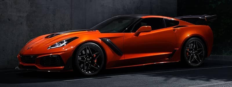 Corvette ZR103 orange vehicle