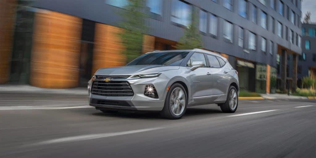2019 Chevrolet Blazer Driving Down City Street