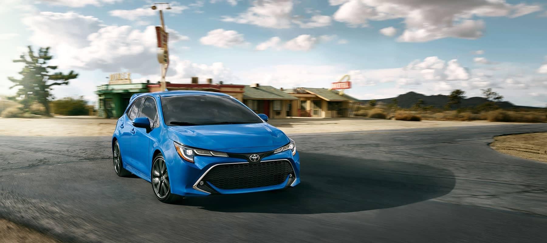 2019-Corolla-Hatchback blue vehicle