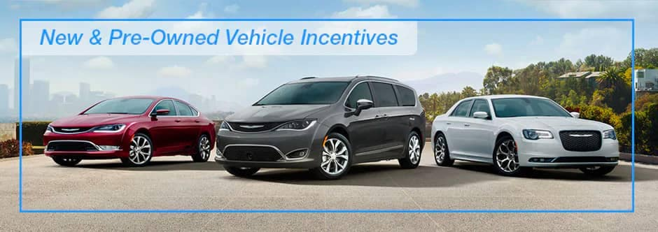 New & Pre-Owned Vehicle Incentives