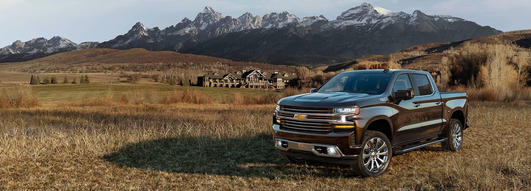 Dark 2021 Chevrolet Silverado 1500LD Crew Cab parked in a Mountain Valley