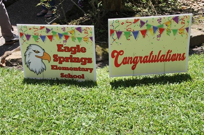 eagle springs lawn sign