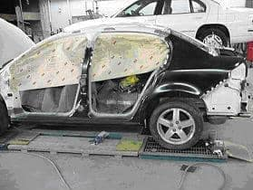 Car in body shop