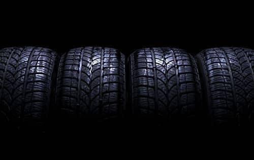 row of car tires