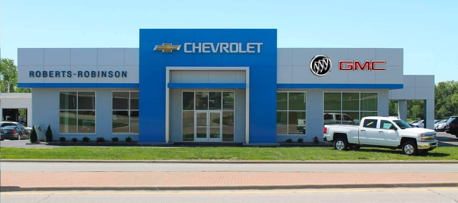 An exterior shot of a Chevrolet dealership