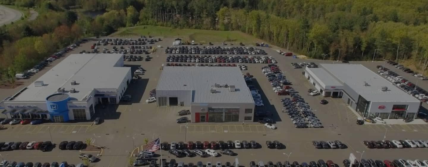Above view of the dealership