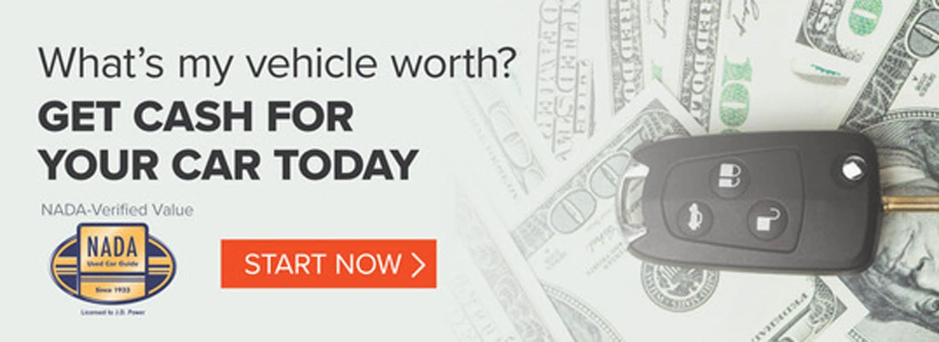 What's my vehicle worth? Get cash for your car today.