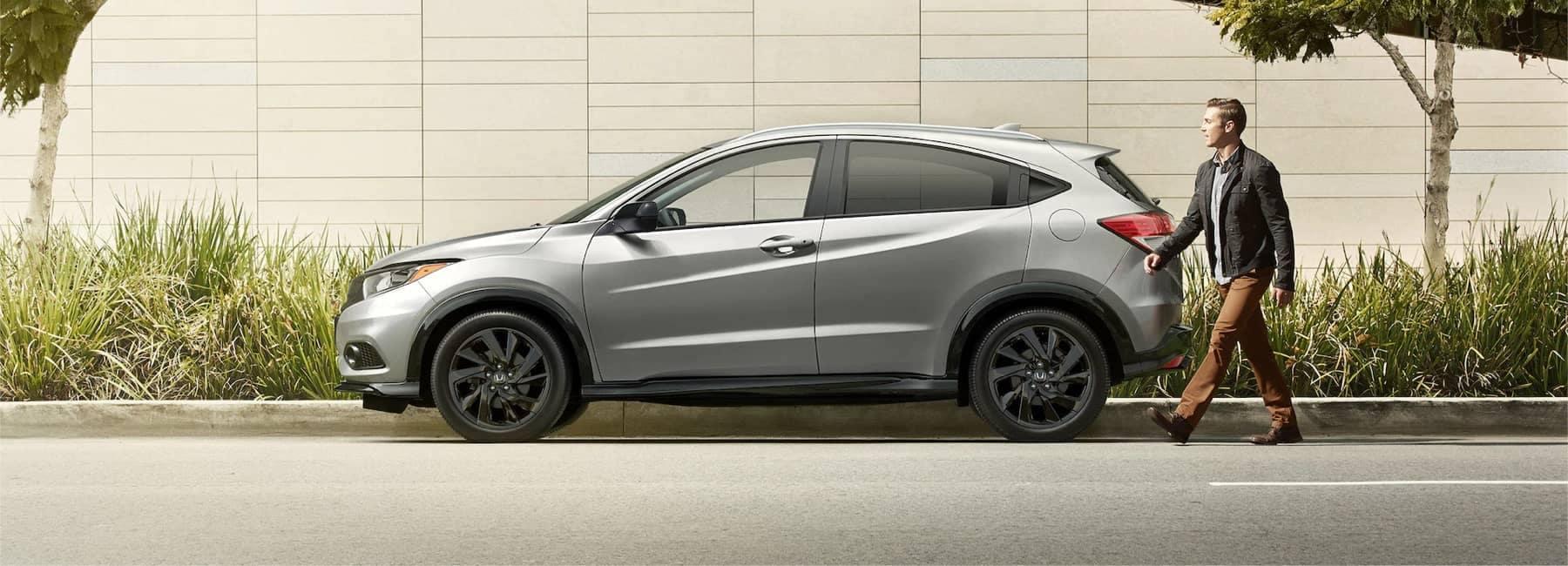 2021 Honda HRV parked on side of road