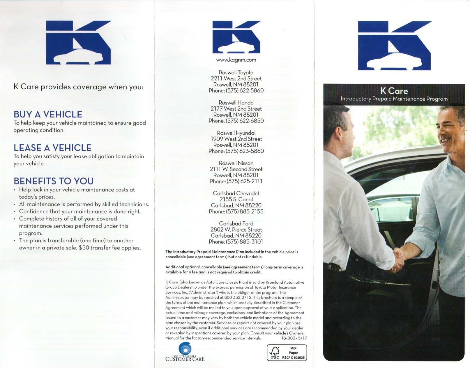 K Care Page Two