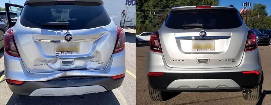Liftgate And Rear Bumper Damage