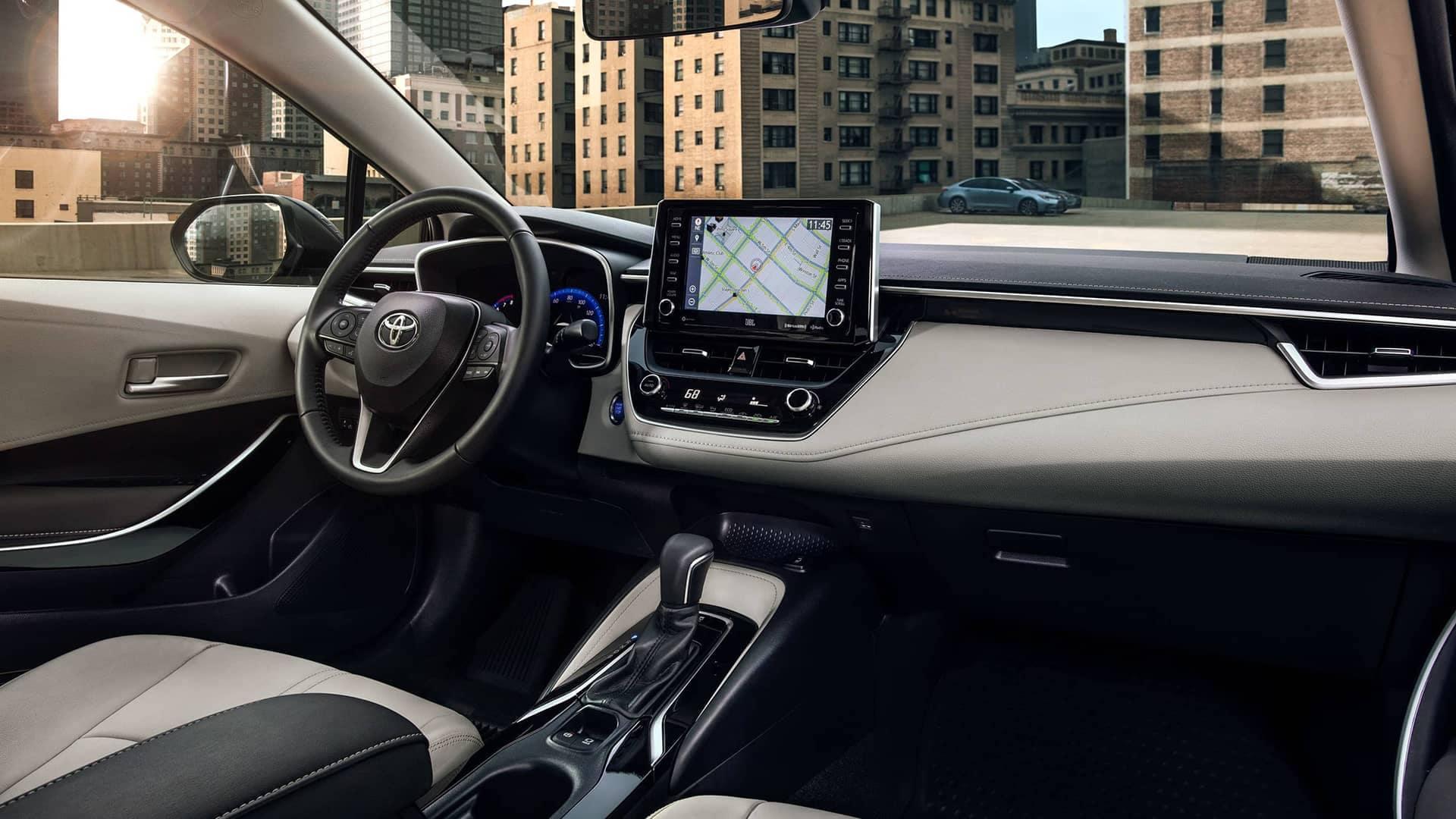 2020 Toyota interior front