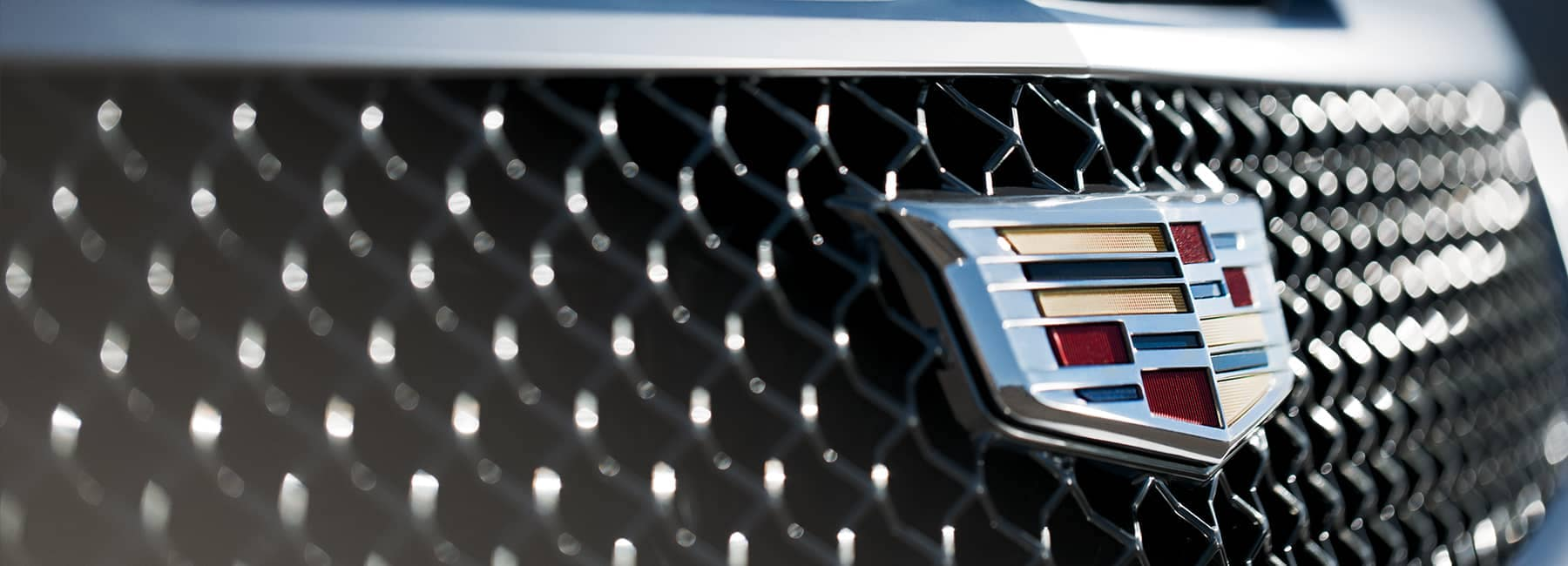 Close up of a Cadillac Grille
