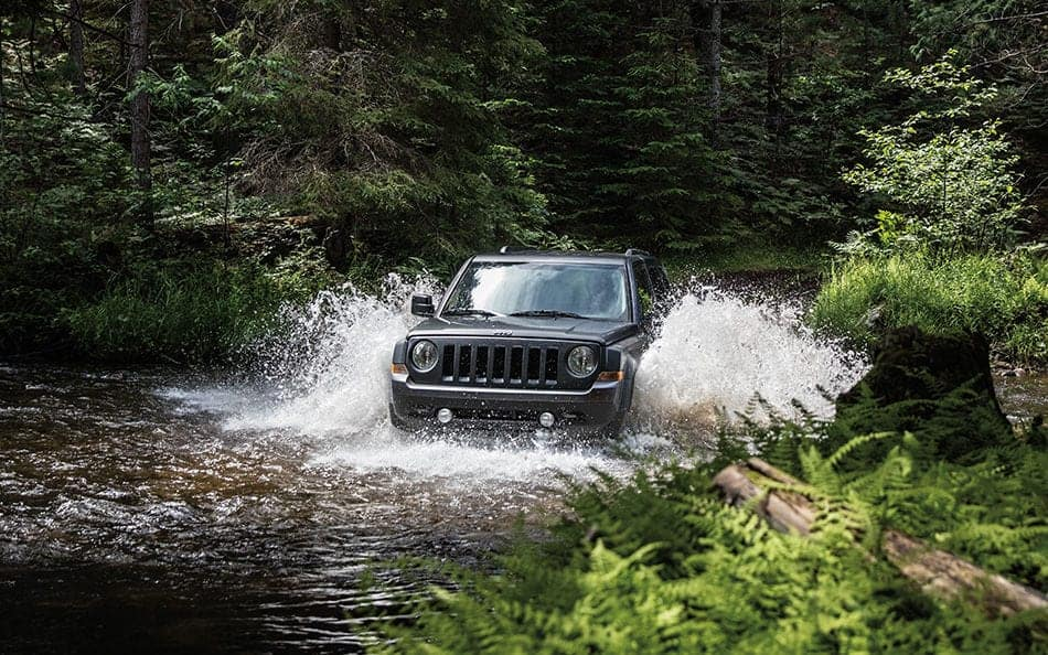 2016 Jeep Patriot off-roading
