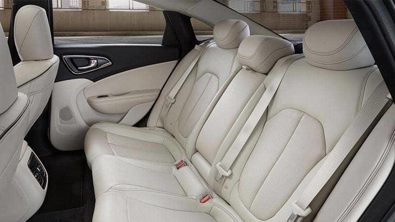 2016 Chrysler 200 back seat