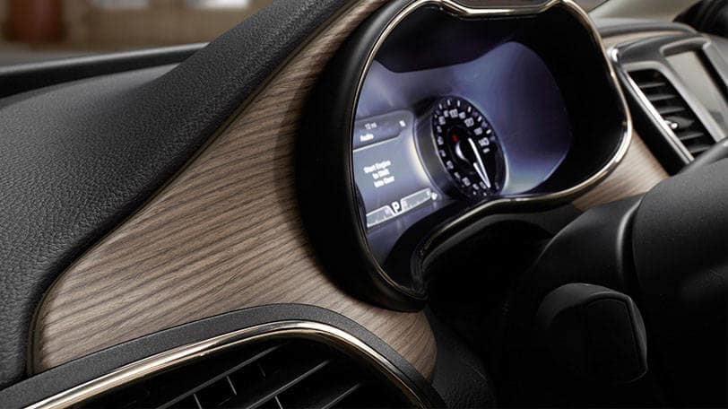 2016 Chrysler 200 dashboard with wood accents