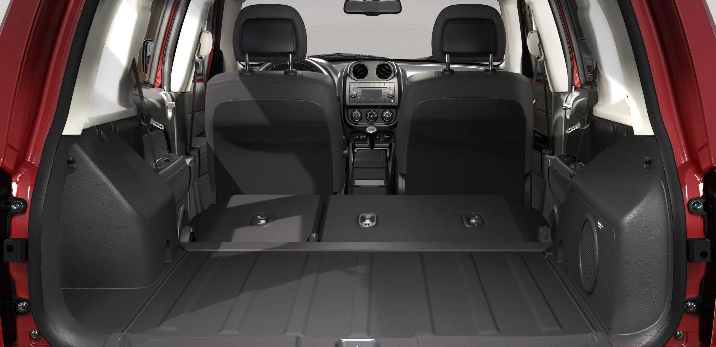 interior of the 2017 Jeep Patriot