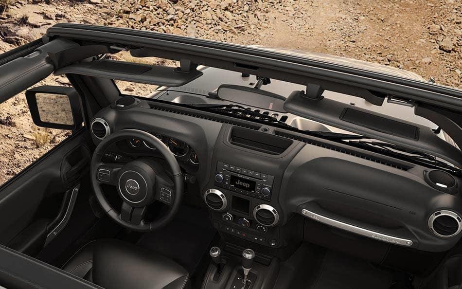 2016 Jeep Wrangler dashboard