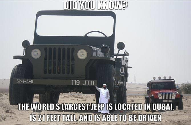 The Quirky And True Story Behind The World S Largest Jeep