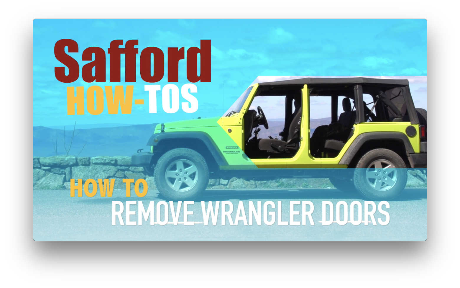 Wrangler Door Removal