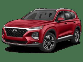 2019 red Hyundai Santa Fe