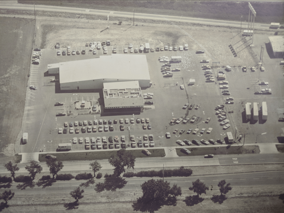 Old sky view of dealership
