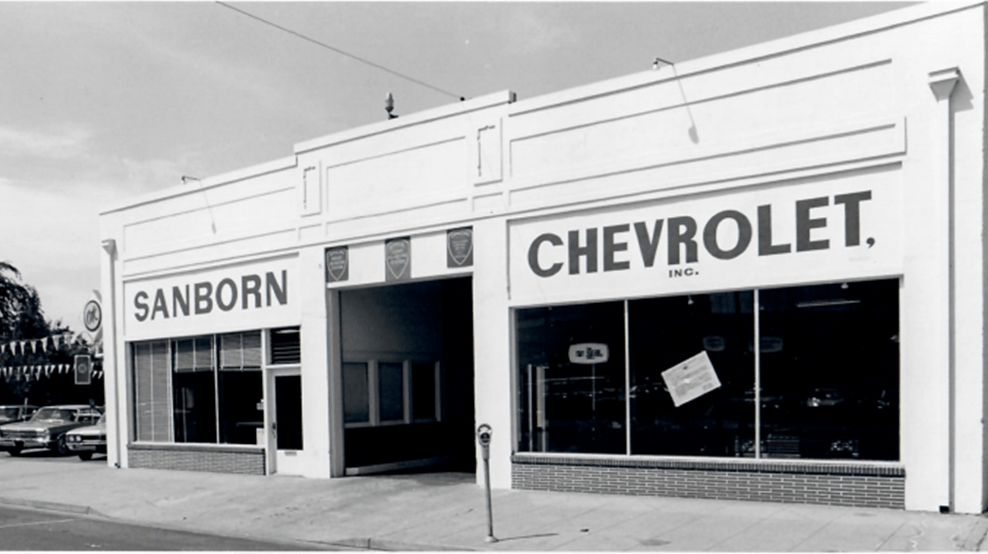 Old Storefront of Sanborn Chevrolet