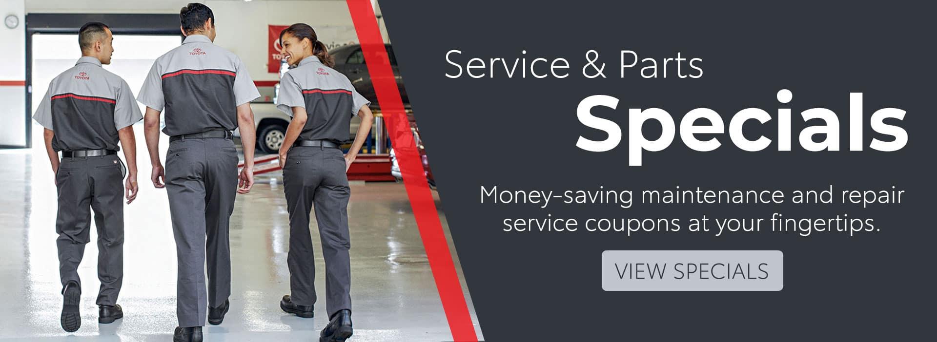 Toyota Service & Parts Specials