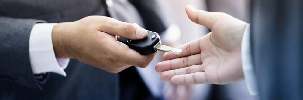 Dealer Holding Keys