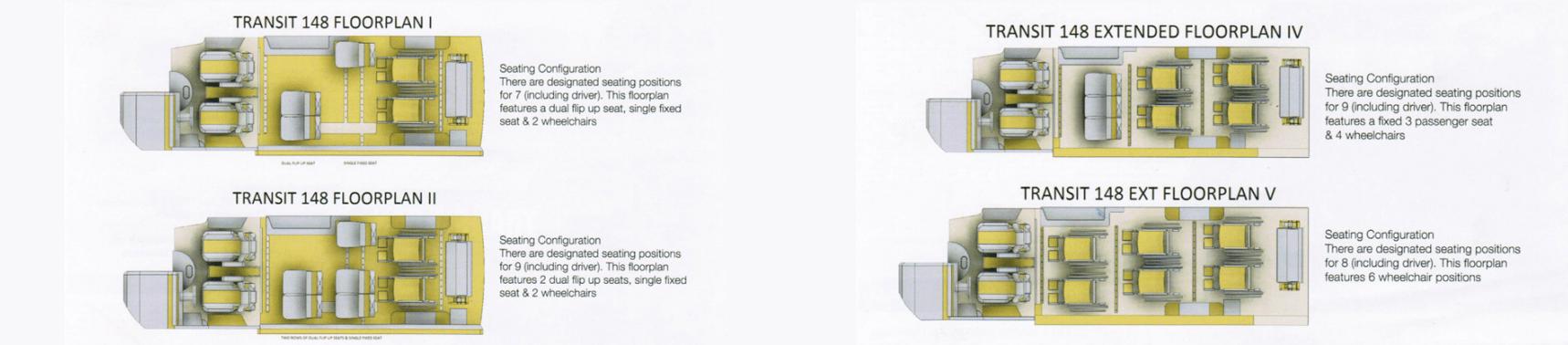 Full Sized Transit Van Floorplans