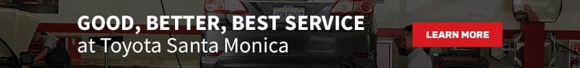 Best Service Toyota Santa Monica Banner
