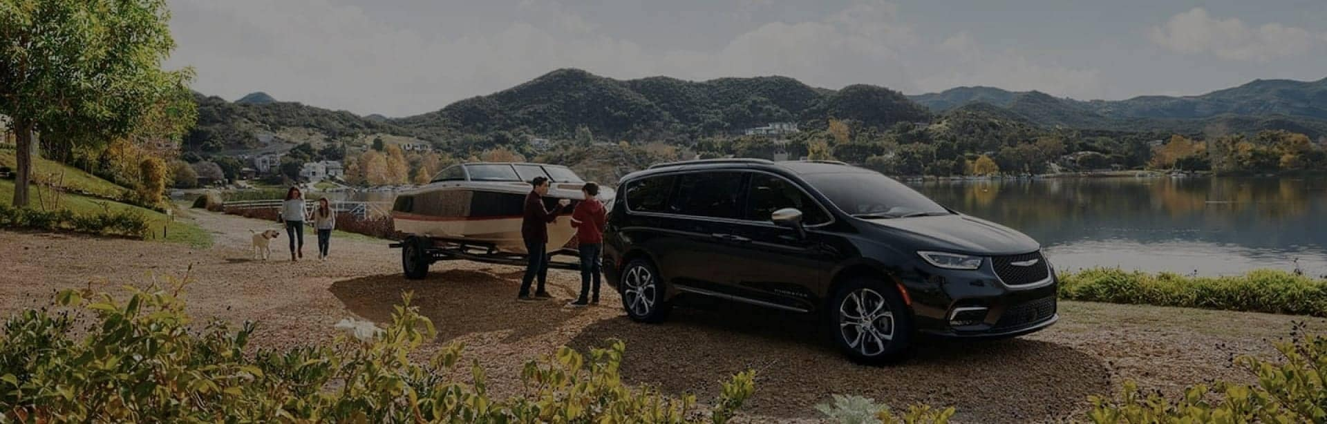 Chrysler vehicle towing a boat