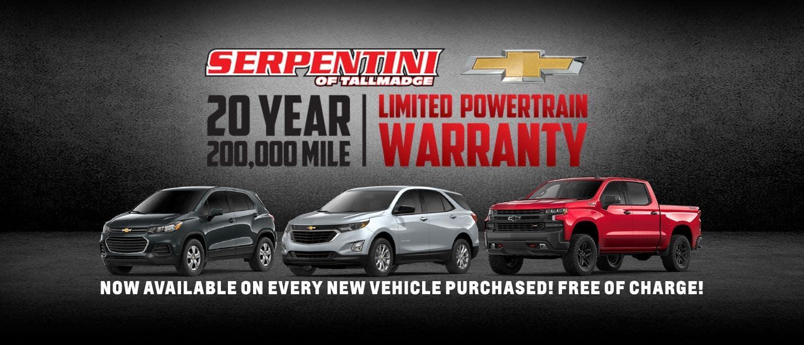 Serpentini 20 Year 200 000 Mile Warranty Serpentini Chevrolet Tallmadge