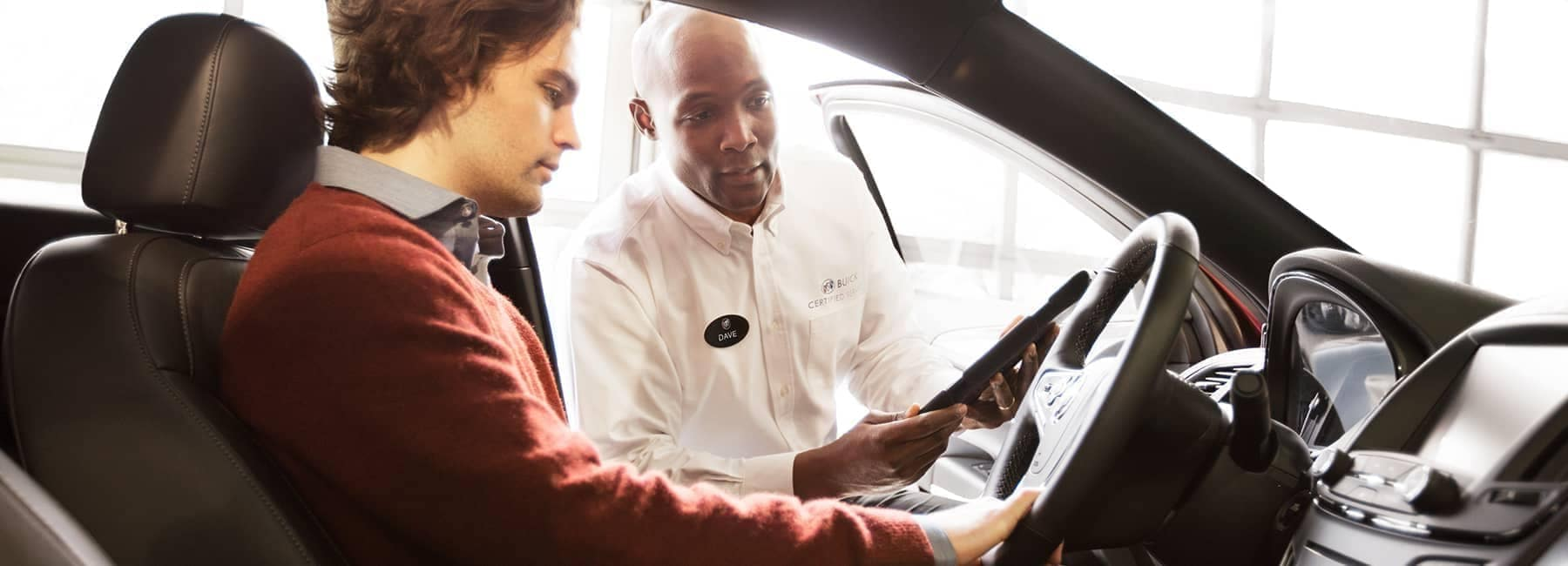 Buick Service technician advises new owner