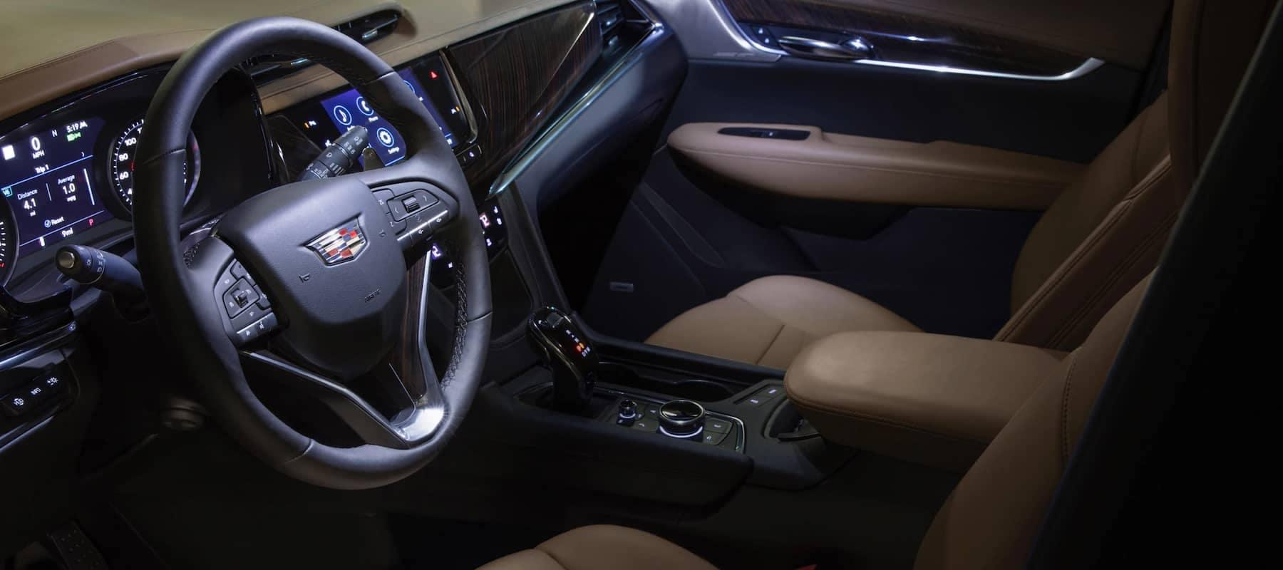 interior shot of Cadillac front seat
