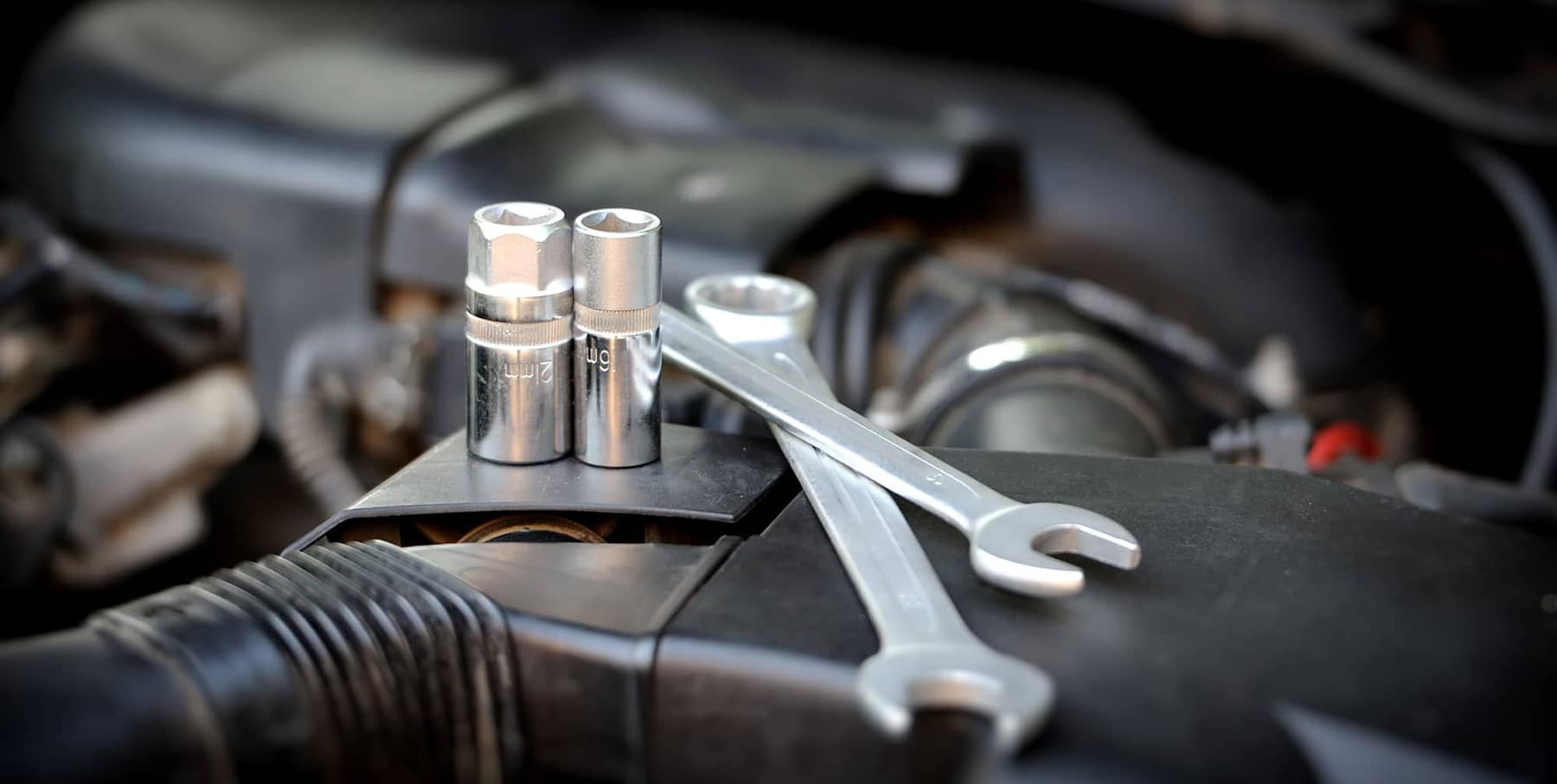 Tools on an engine