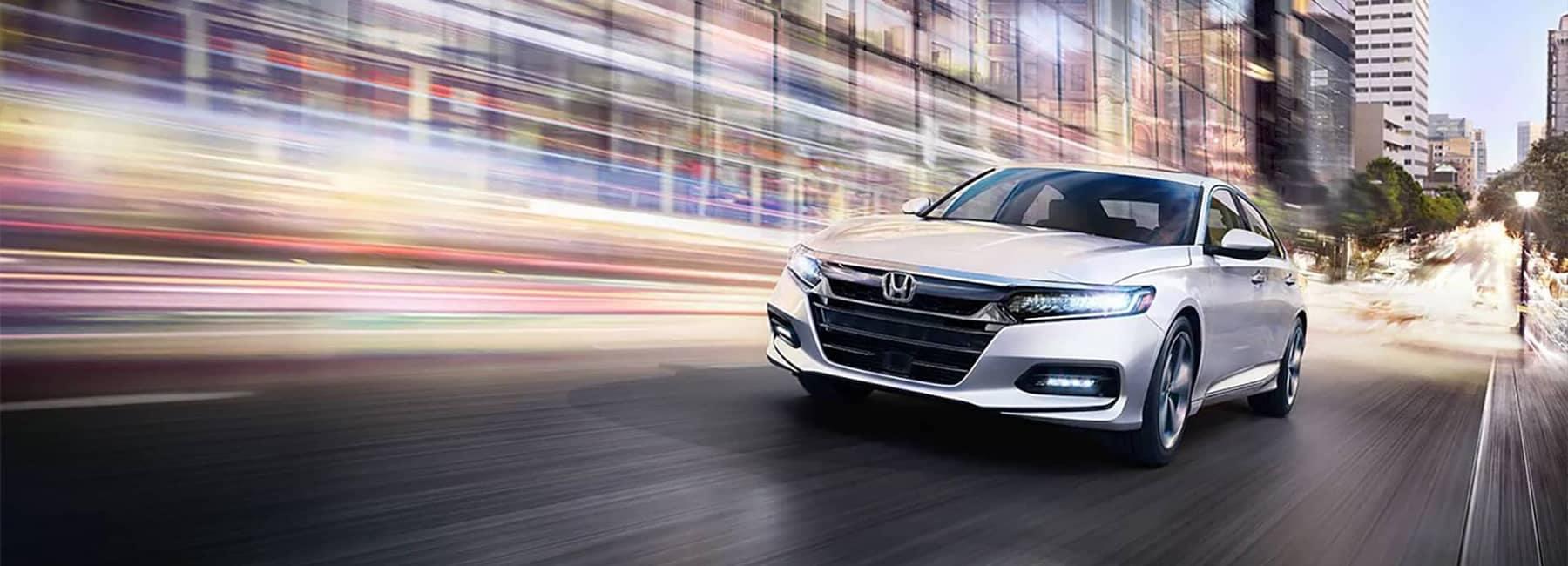 White 2020 Honda Accord Touring Driving
