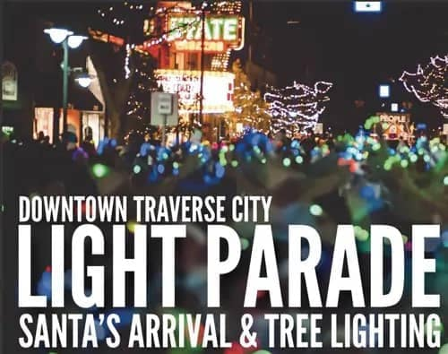 downtown traverse city light parade