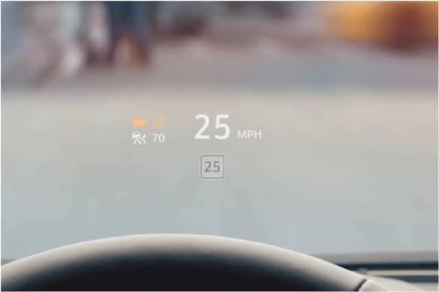 Cadillac heads up display