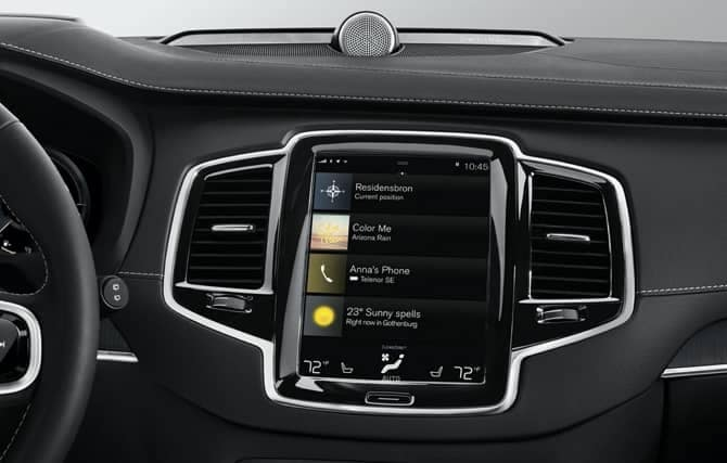 Volvo entertainment interior