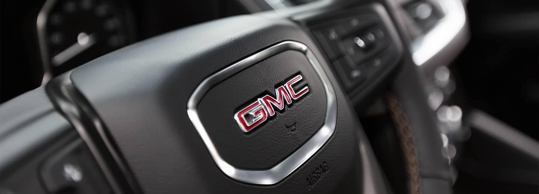 2021 GMC Steering Wheel Close Up