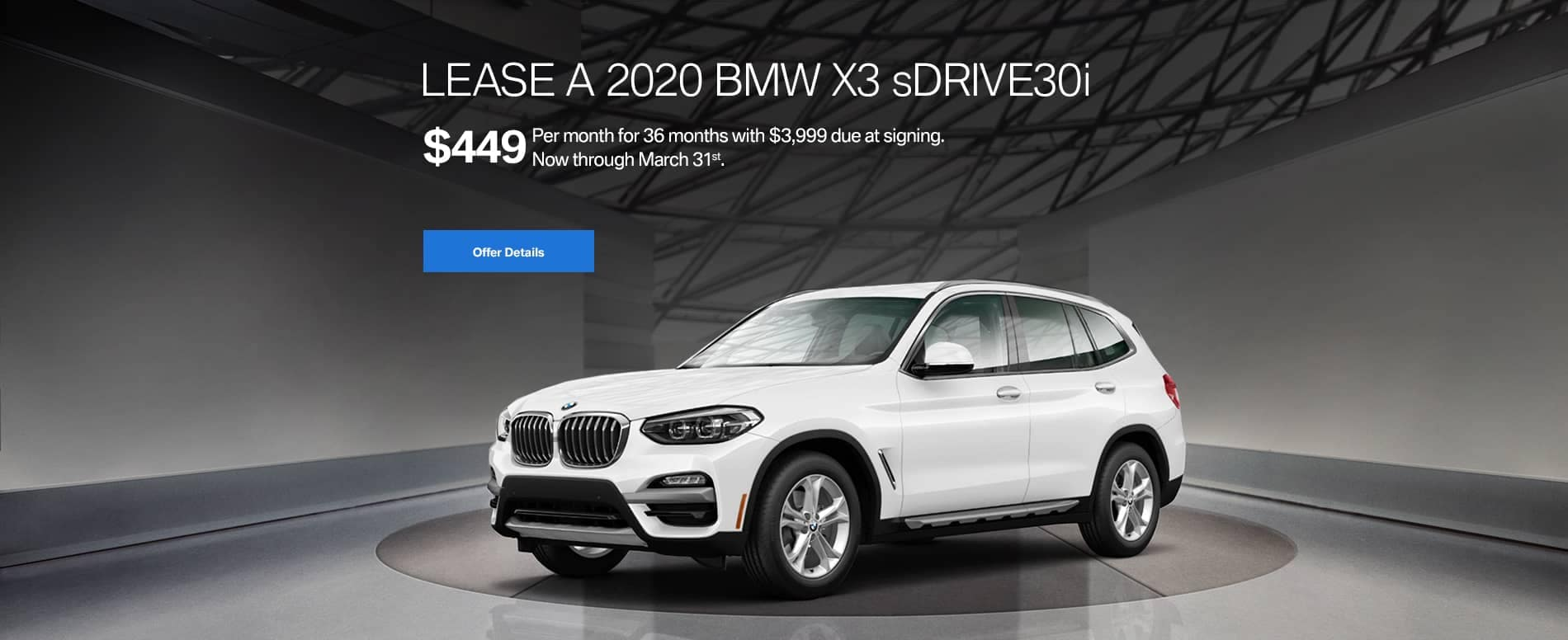 banner for BMW X3 sDrive