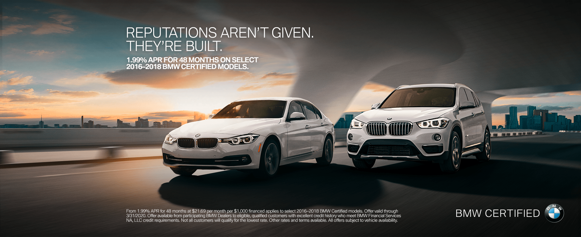 banner for BMW Certified Pre-Owned