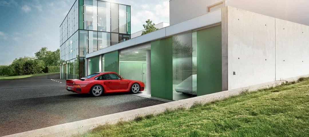 Porsche Classic red