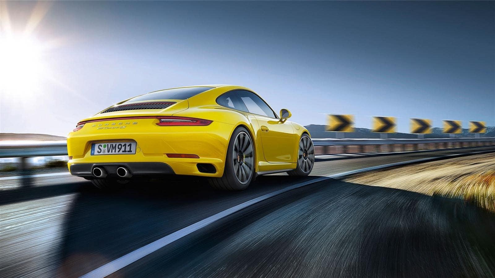 Porsche 911 yellow car