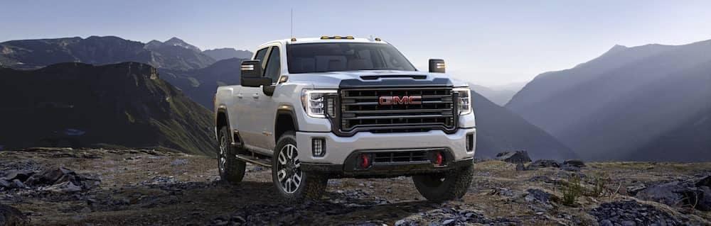 White GMC Truck