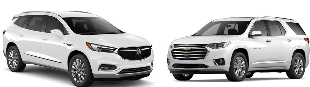 2020 Buick Enclave vs 2020 Chevy Traverse: Features, Specs & Trims