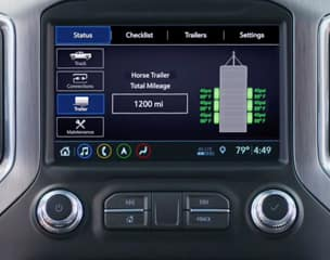 Available In-Vehicle Trailering App