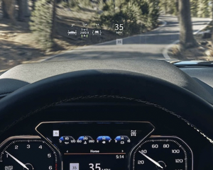 AVAILABLE FIRST-IN-CLASS 15  DIAGONAL HEAD-UP DISPLAY