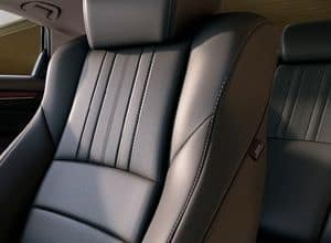 leather-trimmed seats