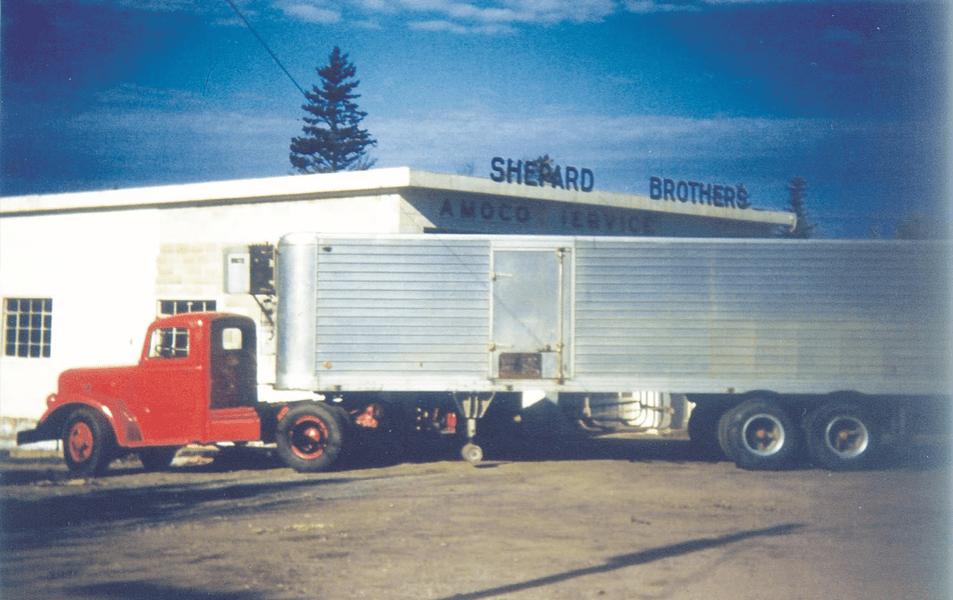 shep truck outside